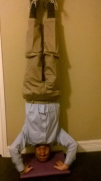 Daddy's headstand