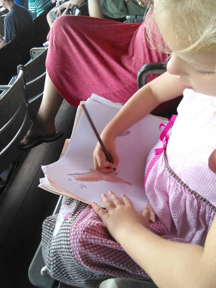 Cassie sketching